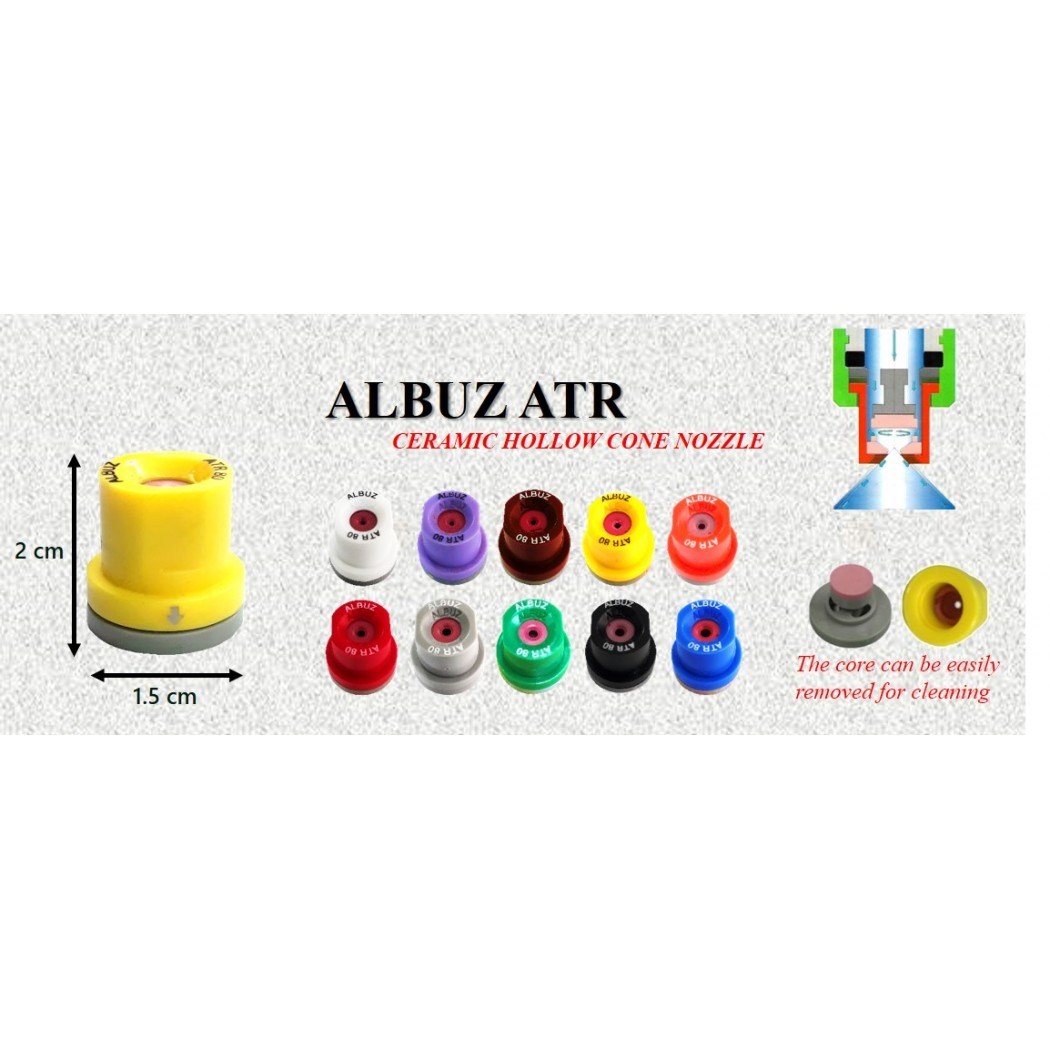 Albuz Ceramic Hollow Cone Nozzle Tips With 'O' Ring - [ NC-HC80+MAU/2R]