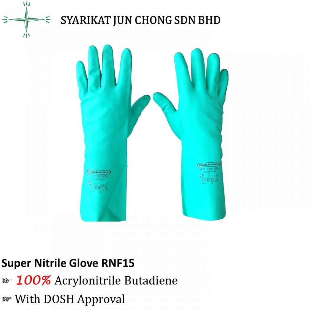 Rubberex Acid Resistant Super Nitrile Glove RNF15