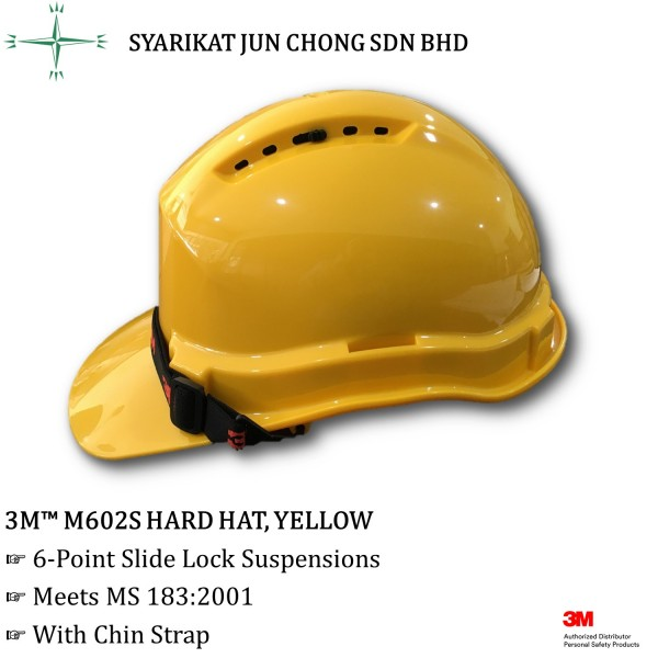 3M M602S Hard Hat 6-Point Slide Lock