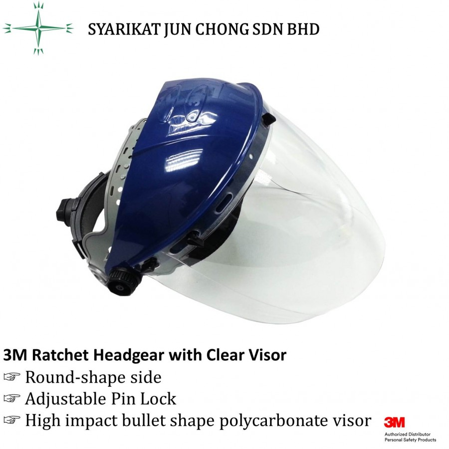 3M Ratchet Headgear with Clear Visor