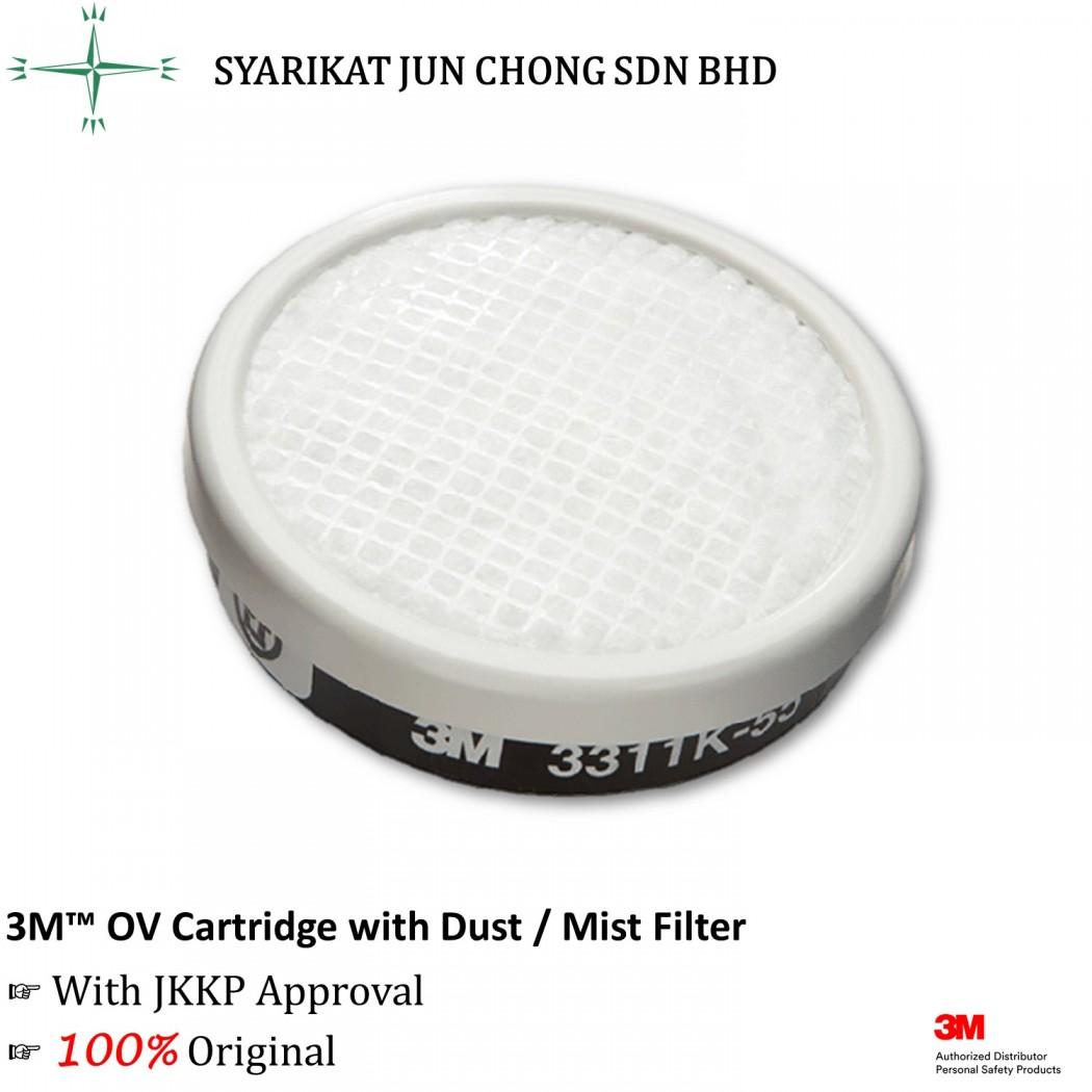 3M OV Cartridge with Dust / Mist Filter 3311K-55