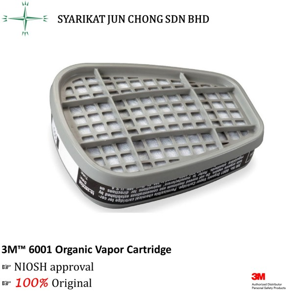 3M Organic Vapor Cartridge 6001