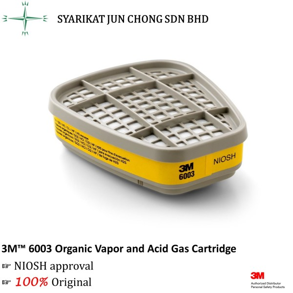 3M Organic Vapor and Acid Gas Cartridge 6003