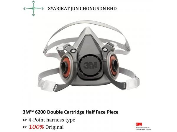 3M Double Cartridge Half Face Piece 6200