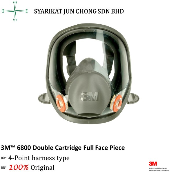 3M Double Cartridge Full Face Piece 6800