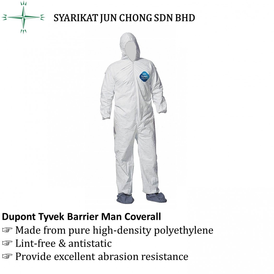Dupont Tyvek Barrier Man Coverall CA1422A
