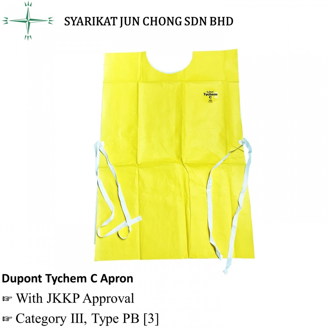 Dupont Yellow Tychem C Apron BD-DP-APRON