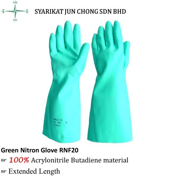 Rubberex Acrylonitrile Butadiene Green Nitron Glove RNF20