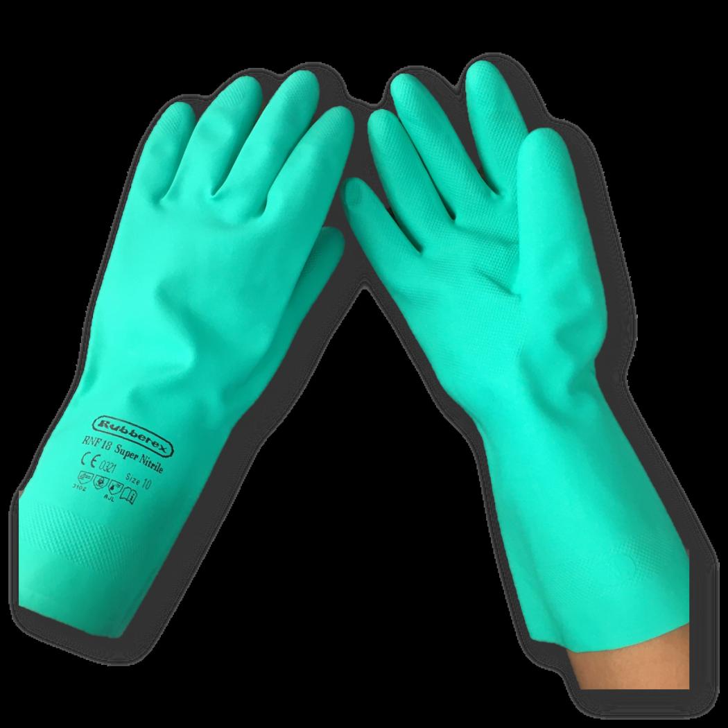 Rubberex Green Super Nitrile Glove RNF18
