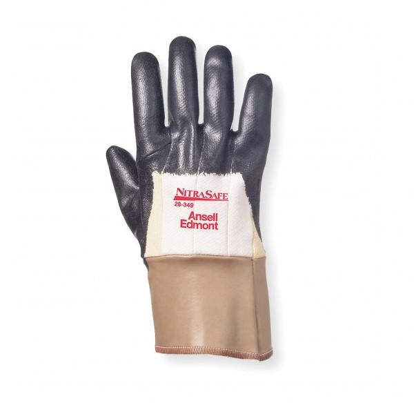 Palm Coated with Safety Cuff Nitrile Safety Glove