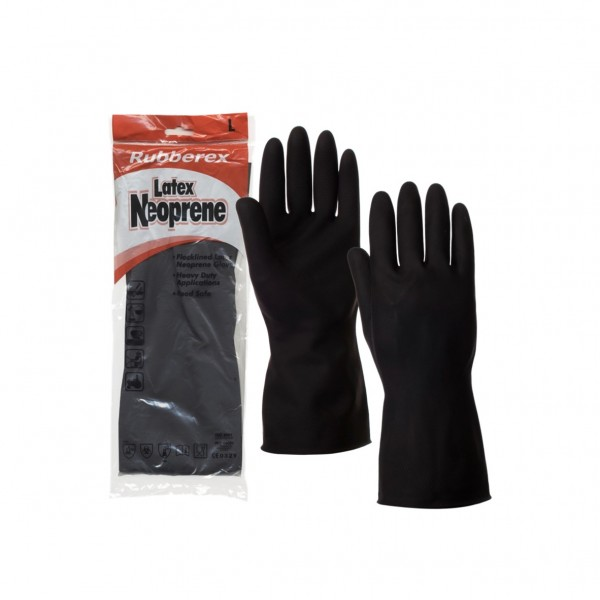 Black Safety Latex Neoprene Glove
