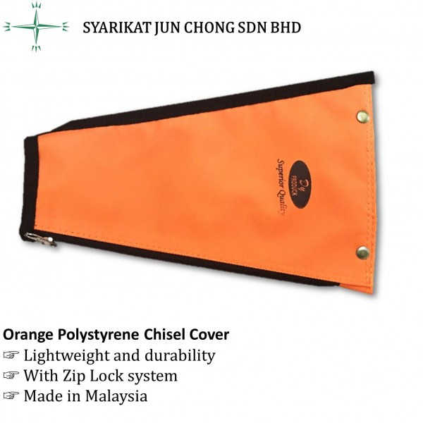 Orange Polystyrene Chisel Cover