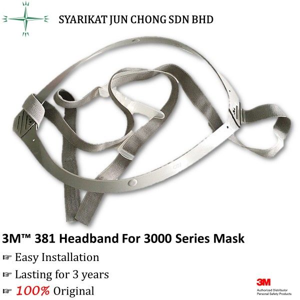 3M™ 381 Headband For 3200 Series Half Facepiece Mask