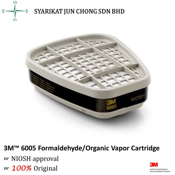 3M™ 6005 Formaldehyde/Organic Vapor Cartridge
