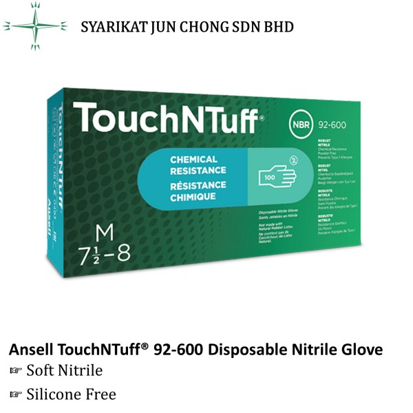 Ansell TouchNTuff® 92-600 Disposable Nitrile Glove