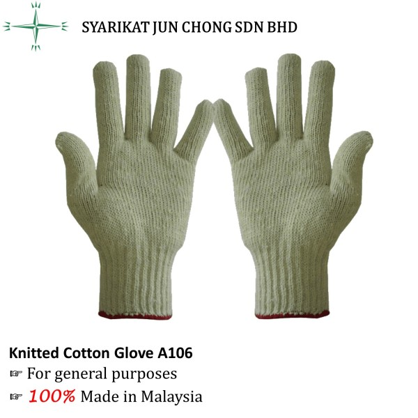 Knitted Cotton Glove A106