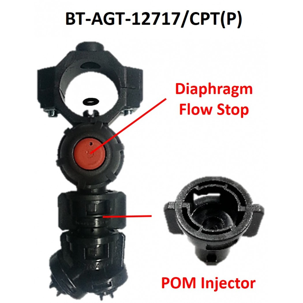 """Clamp Type Nozzle Holder With Diaphragm Check Valve 1"""" F10 Complete With TurboDrop TD-ADF 110-10"""